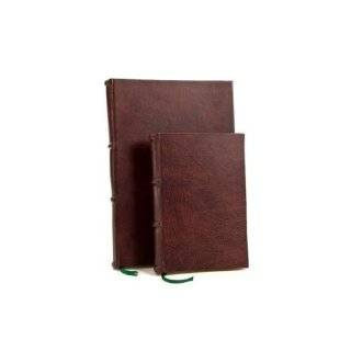Ialian Disressed Leaher Journal wih UNLINED Classic Pages, Wedding