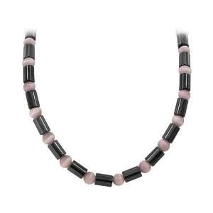 Magnetic Necklace Made with Cats Eye Beads and Magnetic Clasp Jewelry