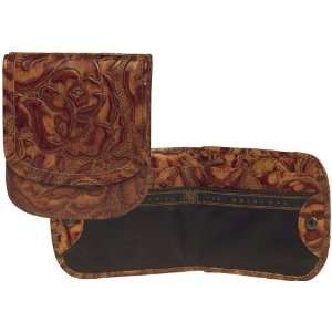 The One and Only Taxi Wallet® in Cognac Tooled Print by Alicia Klein