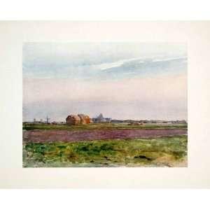 1906 Color Print Belgium Farm Plain Flemish Flanders Field