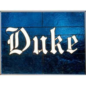 Duke University Blue Devils Stained Glass Window Hanging
