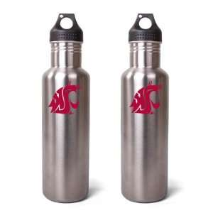 Washington State Cougars Stainless Steel Water Bottle   2
