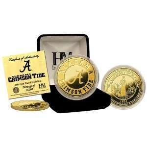 NCAA Alabama Crimson Tide 24KT Gold Coin