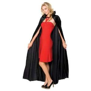 Long Black Crushed Velvet Cape