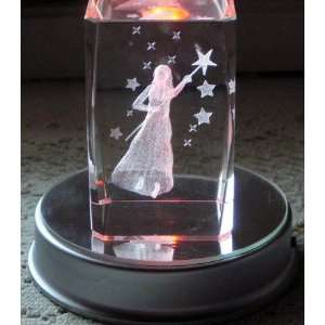 3d Laser Crystal Fairy God Mother w/ Free Base:  Home