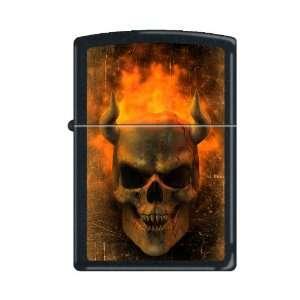 Zippo Lighter Flaming Demon Skull 5908