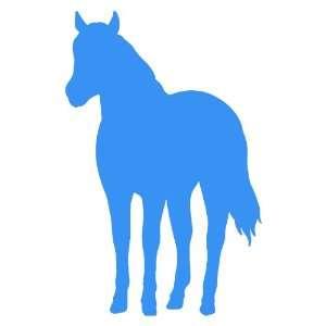 Horse Large 10 Tall LIGHT BLUE vinyl window decal sticker