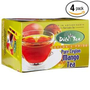 Dils Royal Tea, Mango Tea, 20 Count Foil Envelopes (Pack of 4
