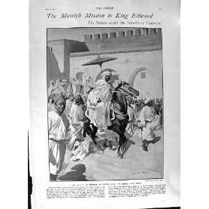 1901 MULAI ABD EL AZIZ SULTAN MOROCCO KING EDWARD ARMY: Home & Kitchen