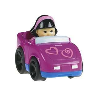 Little People Wheelies Pink Hearts Sports Car Toys