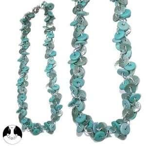 sg paris women necklace necklace shell wood 60 cm silver
