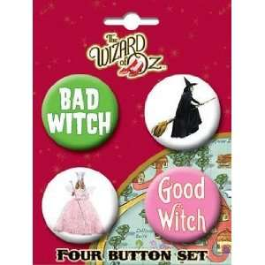 Wizard of Oz Good & Bad Witches Button Set 81441BT4 Toys