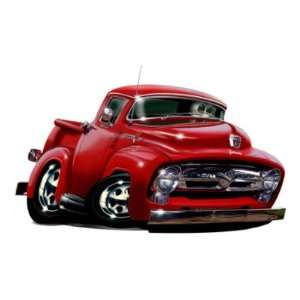 Ford F 100 Truck Cartoon Car Turbo Fire Wall Graphic Decal Cling Kids