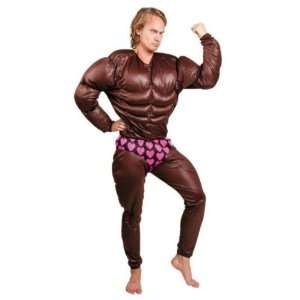 Mr Universe Bodybuilder Fancy Dress Costume & FREE Face