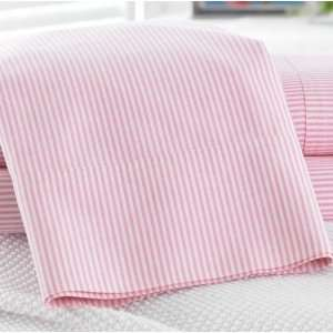 Lauren by Ralph Lauren Bedding University Pink Stripe Oxford Twin 3 pc