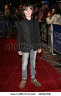 stock photo  Isaac Hempstead Wright attending the premiere of The