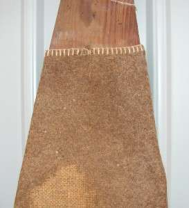 ANTIQUE WOODEN IRONING BOARD WITH HORSE HAIR