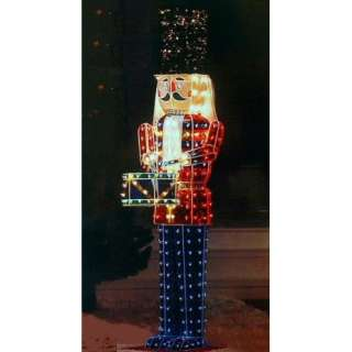 6 Foot 3d Holographic Lighted Nutcracker   Christmas Yard Decor