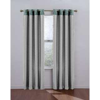 Eclipse Curtains Venetian Blackout Grommet Window Drape in Mushroom