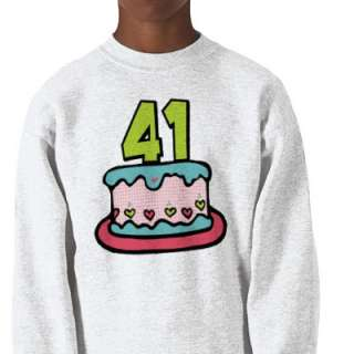 41 Year Old Birthday Cake Pull Over Sweatshirt by Birthday_Bash