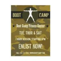 Body Madness Boot Camp Fitness Flyers by sunnymars