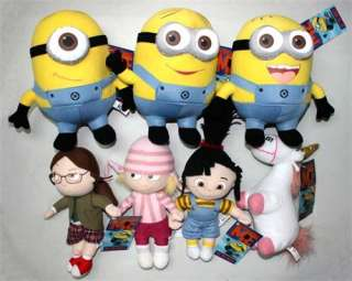 Me Minions & Unicorn & Girls Plush toys set of 7 G/GF for Children NY