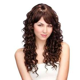 Capless Long Golden Brown Synthetic Curly Hair Wig   US$ 39.99