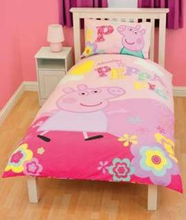Rooms  Peppa Pig & George  Peppa Pig Duvet Cover   Adorable