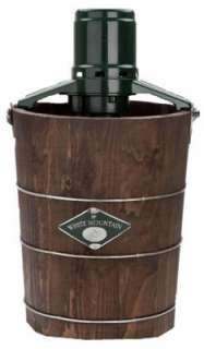 Quart Wooden Bucket Electric Motor Ice Cream Maker