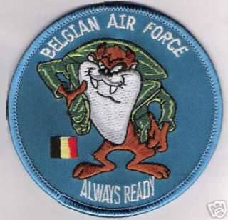 BAF EMBROIDERED PATCH BELGIAN AIR FORCE ALWAYS READY