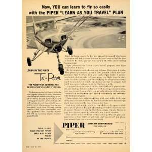 1957 Ad Tri Pacer Aircrafts Piper Hydrasorb Tricycle