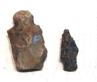 Lot 2 Native American Indian STONE ARROWHEADS Ohio