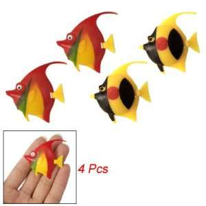 com 4 Pcs Artificial Plastic Tropical Fish for Aquarium Pet Supplies