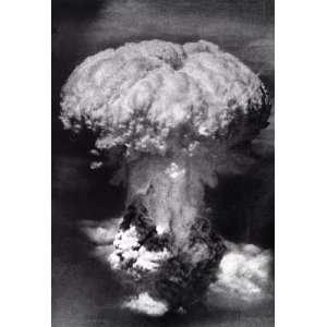 Atomic Bomb Poster, Mushroom Cloud, Nagasaki, Explosion