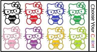 Say Hello to Nerd Kitty I Love Nerds Sticker Decal Car Window Laptop