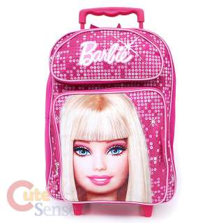 Barbie Large School Roller Backpack with lunch Bag