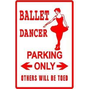 BALLET DANCER PARKING sign *street art