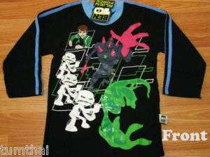 Ben 10 Alien Force Cotton T Shirt #373 BLK ML age 12 14