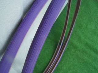 TWO ALL PURPLE BIKE TIRES / TUBES 27 x 1 1/4 NEW