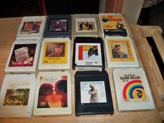 OF 12, 8 TRACK TAPES, ASSORTED BIG BAND, CLASSICAL & MISC