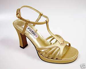 Rhinestone Gold Bridal Wedding Prom Party Dress Pageant Platform Shoes
