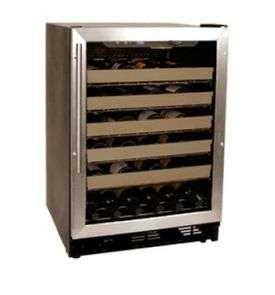 Haier HVCE24CBH 50 Bottle Stainless Steel Built in Wine Refrigerator