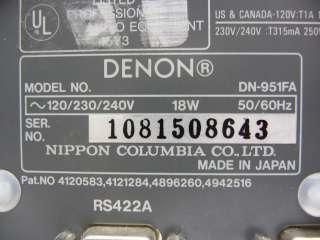 DN 951FA PROFESSIONAL PRO AUDIO COMPACT DISC CD CART CARTRIDGE PLAYER
