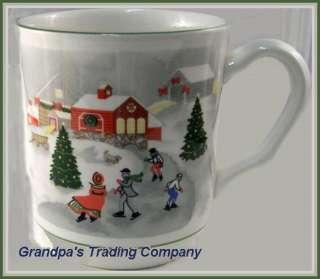 Sango SILENT NIGHT Mug Winter Snow Scene 3900 Christmas