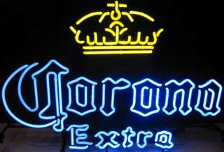 Corona Extra Cerveza Beer Bottle Logo Crown Store Pub Neon Wall Light