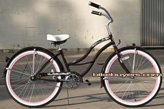 Colors 26 Beach Cruiser Bike Bicycle, Tahiti women