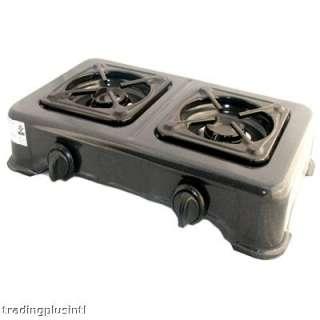 Black Enamel Propane TWO Burners Gas Stove Range $ave