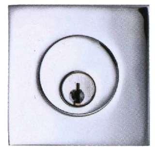 Square Stainless Steel Deadbolt Lock Set from the Emtek Epitome