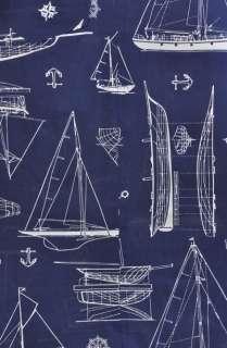 vtg 70s NAUTICAL LINE DRAWN BOATS sailor HIGH WAIST cotton dress maxi