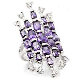 Jewelry   Pear Cut Amethyst Cocktail CZ Ring SZ 6 Jewelry